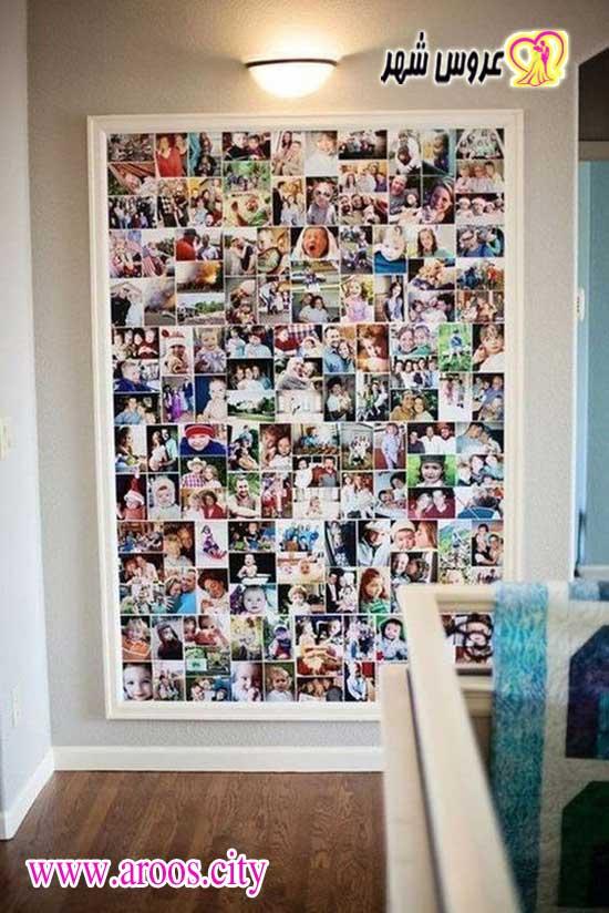 ایده برای زیباسازی دیوار با عکس ها