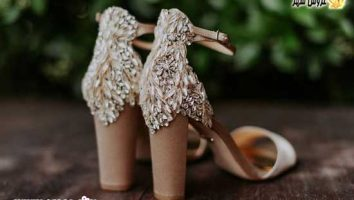 شیک ترین کفش های نگین دار عروس