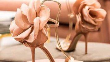 شیک ترین کفش های نامزدی گلدار
