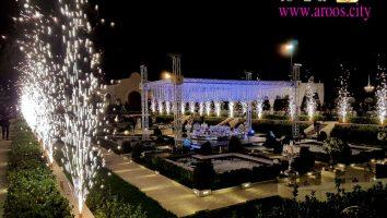 نورپردازی محوطه باغ یا تالار عروسی