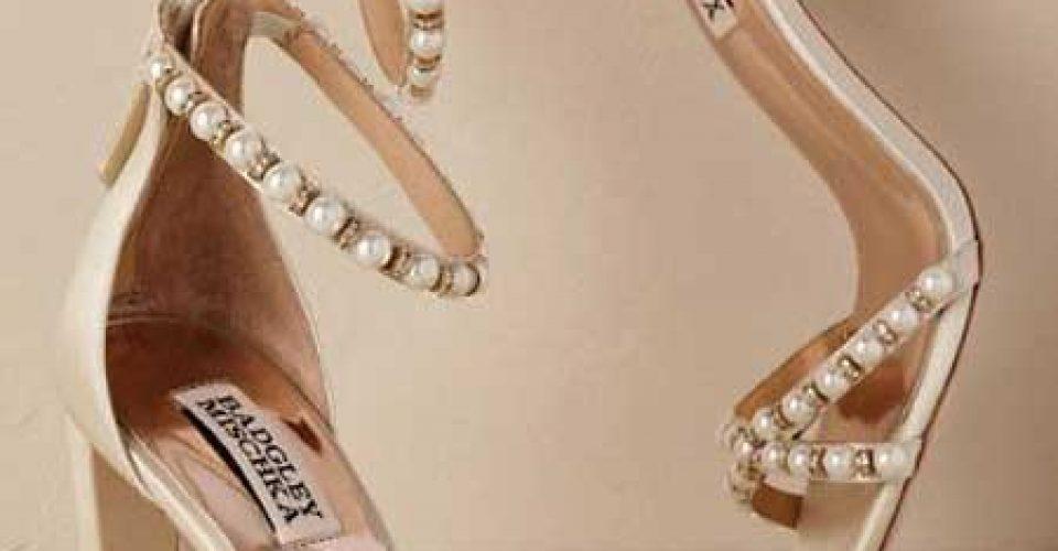 چند مدل کفش های مرواریدی برای عروس
