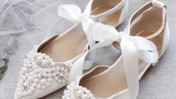 مدل کفش پاشنه کوتاه عروس جدید
