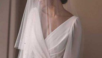 لباس عروس با تور ساده