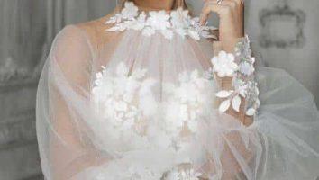 لباس عروس آستین پفی